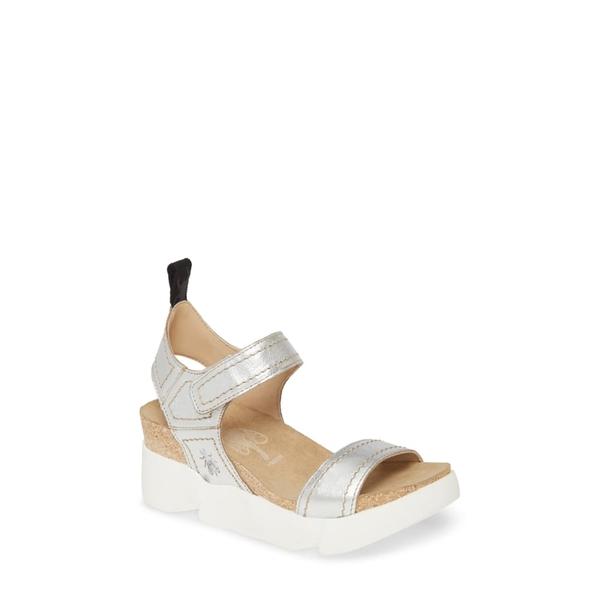 フライロンドン レディース サンダル シューズ Sena Platform Sandal Silver Idra Leather
