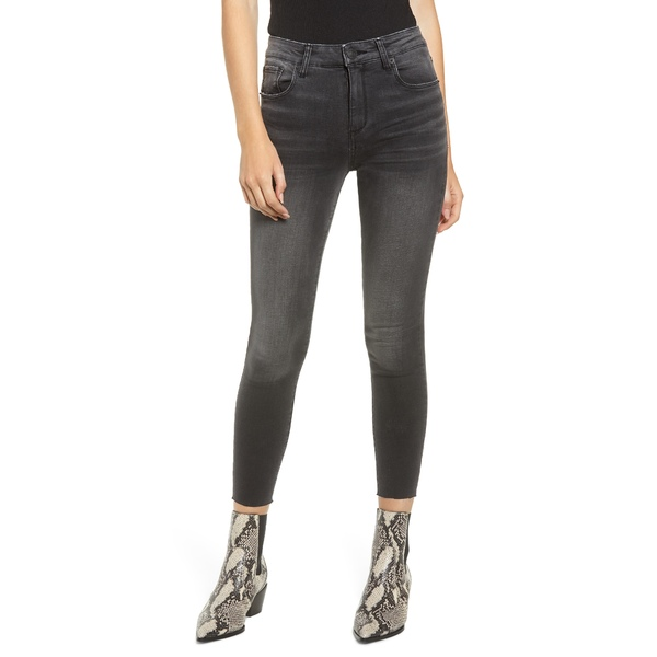 STSブルー レディース デニムパンツ ボトムス Ellie Raw Hem Ankle Skinny Jeans Black