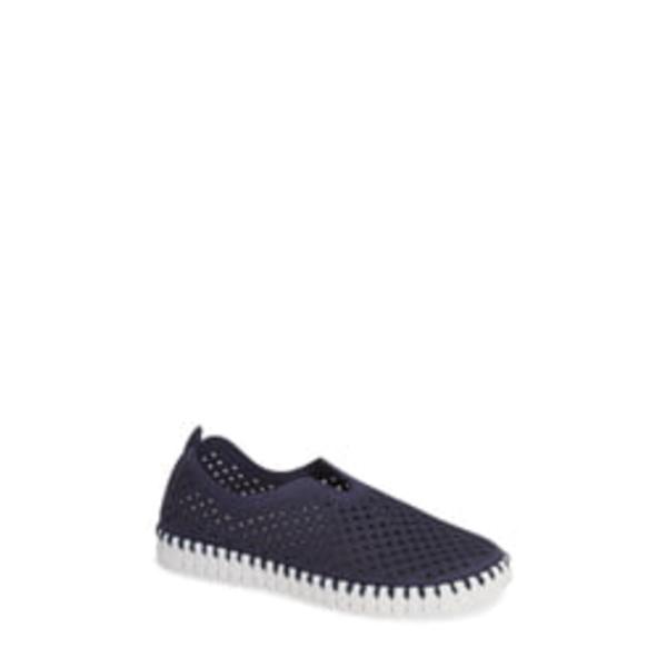 イルセヤコブセン レディース スニーカー シューズ Tulip 139 Perforated Slip-On Sneaker Navy Fabric