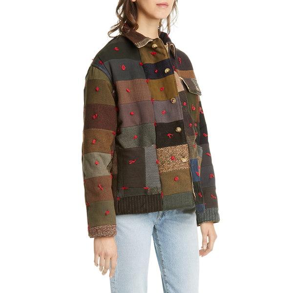 ボーディ レディース ジャケット&ブルゾン アウター Wool Quilted Workwear Jacket Fall Multi