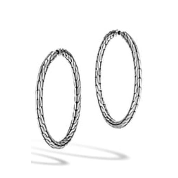 ジョン・ハーディー レディース ピアス&イヤリング アクセサリー 'Classic Chain' Medium Hoop Earrings Sterling Silver