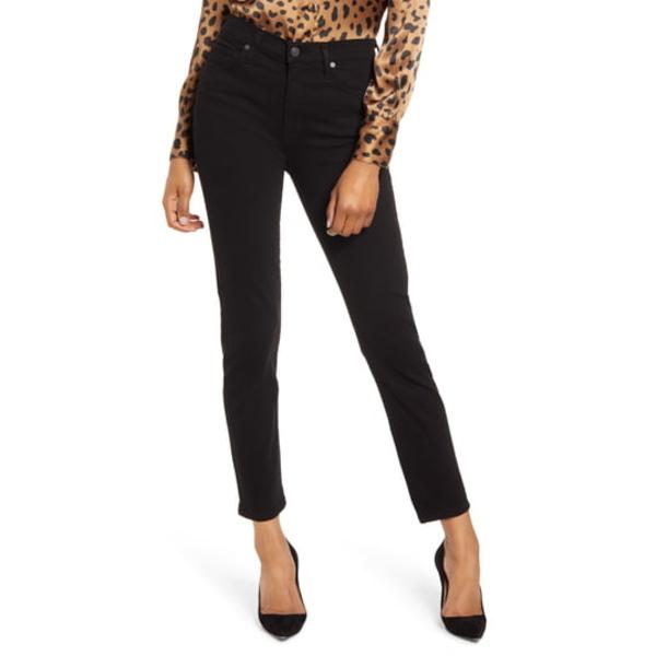 シチズンズ オブ ヒューマニティ レディース デニムパンツ ボトムス Harlow High Waist Ankle Slim Cut Jeans Plush Black
