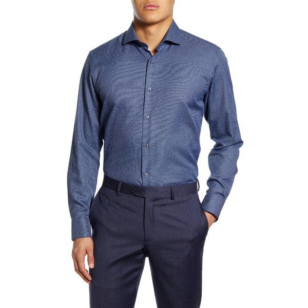 テッドベーカー メンズ シャツ トップス Thisisme Trim Fit Dress Shirt Navy