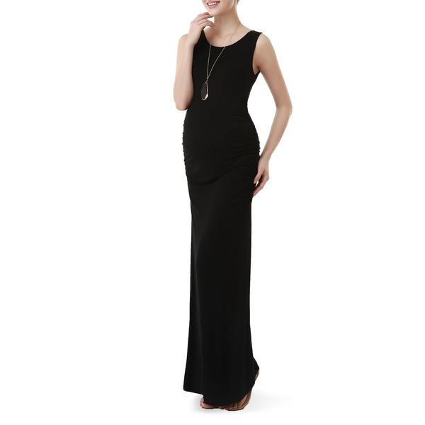 キミアンドカイ レディース ワンピース トップス Maternity Maxi Tank Dress Black