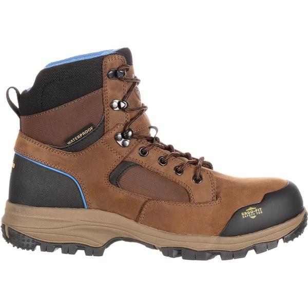 ジョージアブーツ メンズ ブーツ&レインブーツ シューズ Georgia Boot Men's Blue Collar Hiker Waterproof EH Composite Toe Work Boots DarkBrown