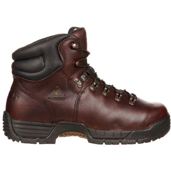"""ロッキー メンズ ブーツ&レインブーツ シューズ Rocky Men's MobiLite 6"""" Waterproof Steel Toe Work Boots Brown"""