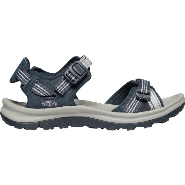 キーン レディース サンダル シューズ KEEN Women's Terradora II Open Sandals Navy/LightBlue