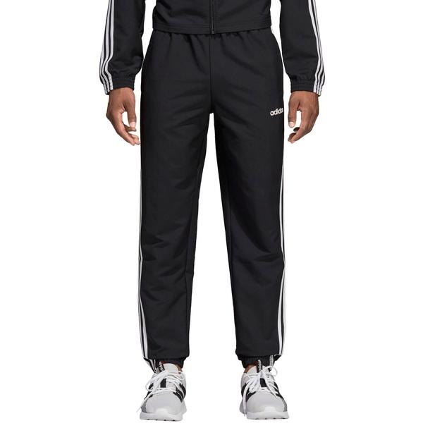 アディダス メンズ カジュアルパンツ ボトムス adidas Men's Essentials 3-Stripes Wind Pant Black/White
