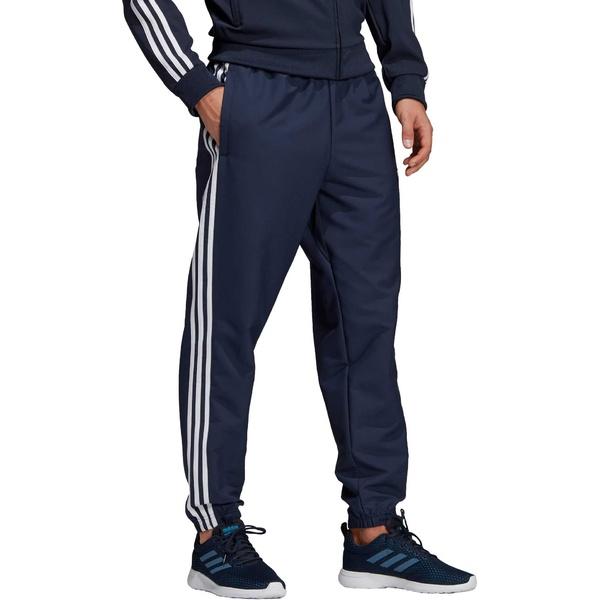 アディダス メンズ カジュアルパンツ ボトムス adidas Men's Essentials 3-Stripes Wind Pant Blue/White