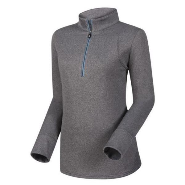 フットジョイ レディース シャツ トップス FootJoy Women's Half-Zip Golf Pullover HeatherCharcoal