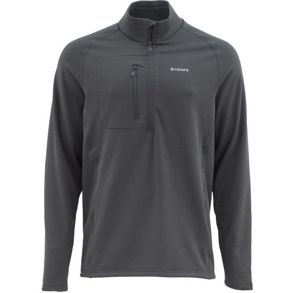 シムズ メンズ シャツ トップス Simms Men's Fleece Midlayer Shirt (Regular and Big & Tall) Raven