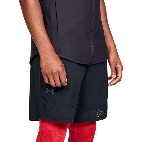 アンダーアーマー メンズ カジュアルパンツ ボトムス Under Armour Men's Vanish Woven Shorts (Regular and Big & Tall) Black/JetGray