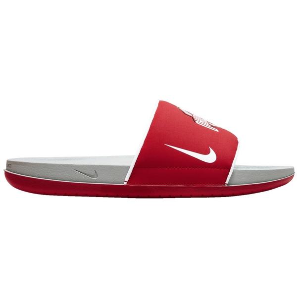 ナイキ メンズ サンダル シューズ Nike Men's Ohio State Offcourt Slides Red/Grey/White