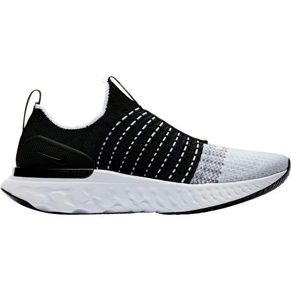 ナイキ メンズ ランニング スポーツ Nike Men's React Phantom Run Flyknit 2 Running Shoes Black/White