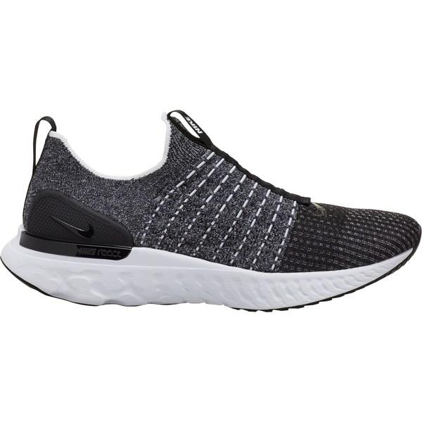 ナイキ メンズ ランニング スポーツ Nike Men's React Phantom Run Flyknit 2 Running Shoes Black/Black/White