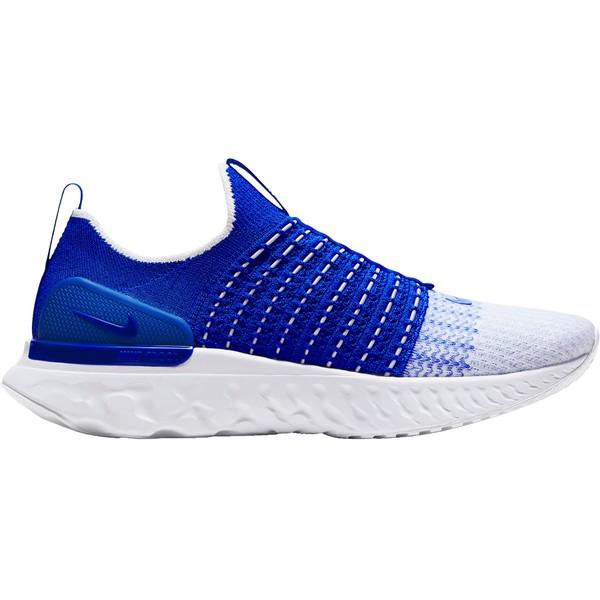 ナイキ メンズ ランニング スポーツ Nike Men's React Phantom Run Flyknit 2 Running Shoes Blue/White