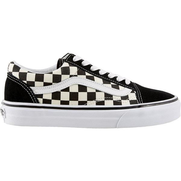 バンズ レディース スニーカー シューズ Vans Primary Check Old Skool Shoes Black/White