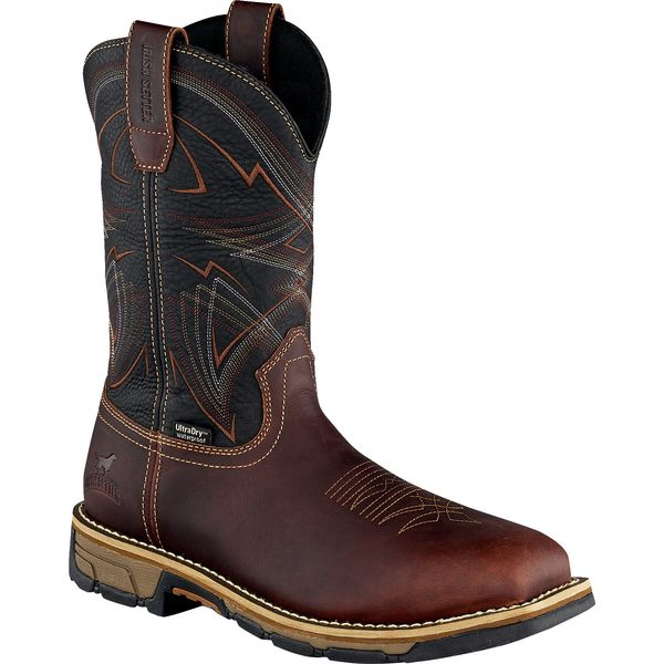 アイリッシュ・セッター メンズ ブーツ&レインブーツ シューズ Irish Setter Men's Marshall 11'' Waterproof Steel Toe Work Boots DarkBrown/Black