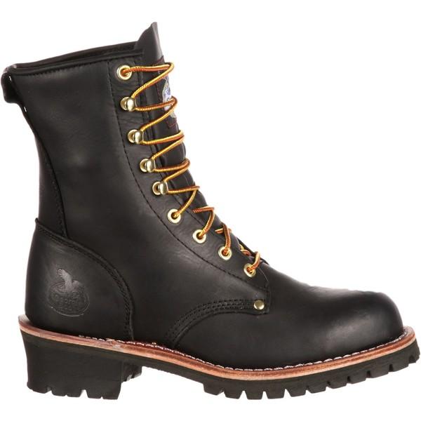 ジョージアブーツ メンズ ブーツ&レインブーツ シューズ Georgia Boot Men's Logger Work Boots Black