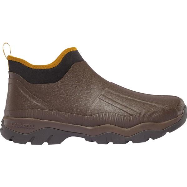 ラクロス メンズ ブーツ&レインブーツ シューズ LaCrosse Men's Alpha Muddy 4.5'' Insulated Waterproof Work Shoes Brown