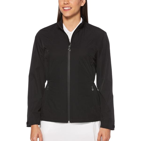 キャラウェイ レディース ジャケット&ブルゾン アウター Callaway Women's Windwear Full Zip Golf Jacket Caviar