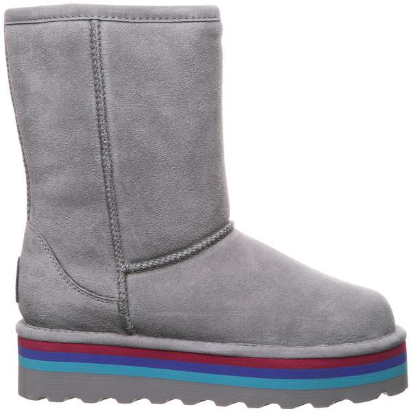 ベアパウ レディース ブーツ&レインブーツ シューズ BEARPAW Women's Retro Elle Sheepskin Boots GreyFog