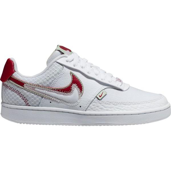 ナイキ レディース スニーカー シューズ Nike Women's Court Vision Low Shoes White/Red