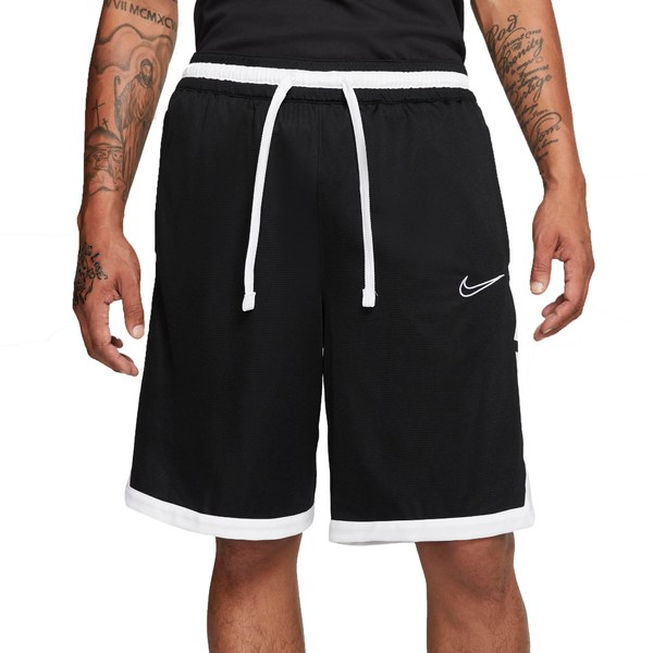ナイキ メンズ カジュアルパンツ ボトムス Nike Men's Dri-FIT Elite Basketball Shorts Black/White/White