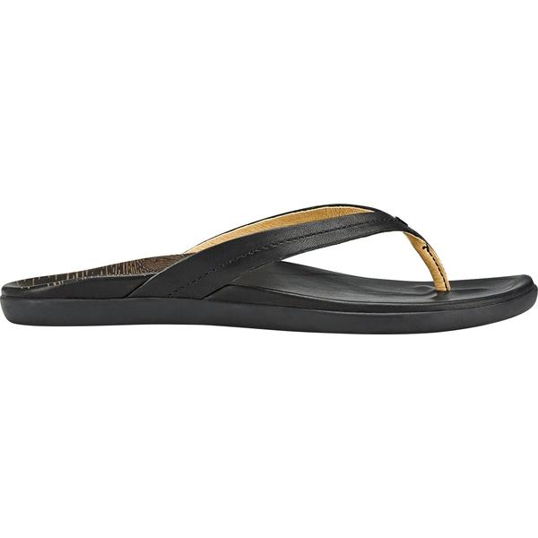 オルカイ レディース サンダル シューズ OluKai Women's Honoli'i Sandals Black/Black