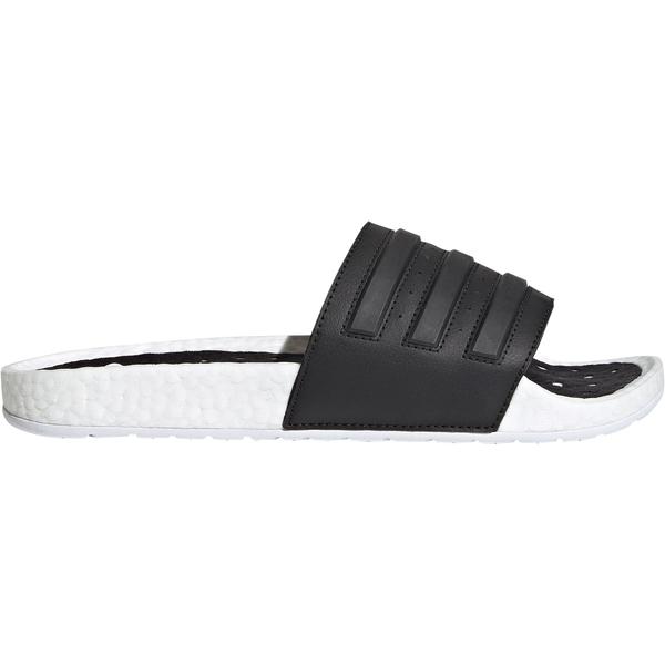 アディダス メンズ スニーカー シューズ adidas Men's Adilette Boost Slides White/Black/White