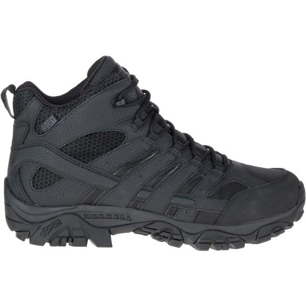 メレル メンズ ブーツ&レインブーツ シューズ Merrell Men's Moab 2 Mid Waterproof Tactical Boots Black