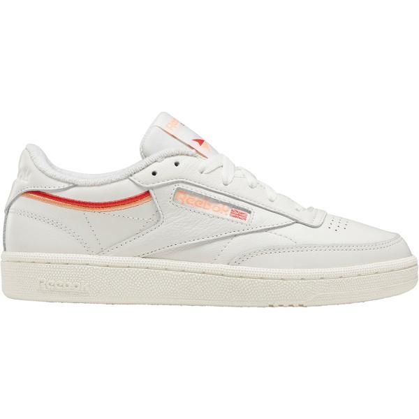 リーボック レディース スニーカー シューズ Reebok Women's Club C 85 Shoes White/OrangeRed