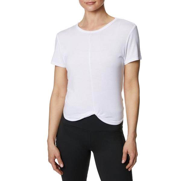 ベッツィジョンソン レディース シャツ トップス Betsey Johnson Women's Twist Front Crop Tee White