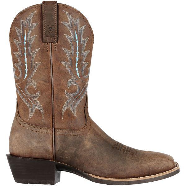 アリアト メンズ ブーツ&レインブーツ シューズ Ariat Men's Sport Outfitter Western Boots DistressedBrown