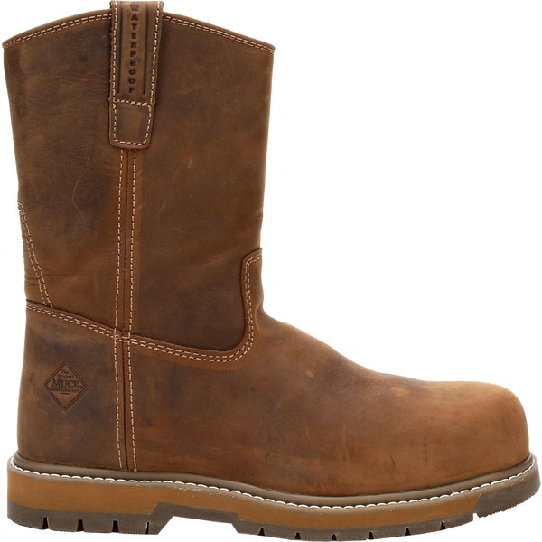 ムックブーツ メンズ ブーツ&レインブーツ シューズ Muck Boots Men's Wellie Classic Waterproof Composite Toe Work Boots Brown