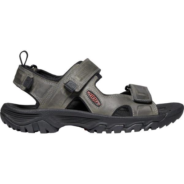 キーン メンズ サンダル シューズ KEEN Men's Targhee III Open Toe Sandals Grey/Black