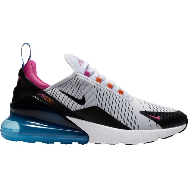 ナイキ メンズ スニーカー シューズ Nike Men's Air Max 270 Shoes Wht/Blk/MagmaOrg/Fuschia