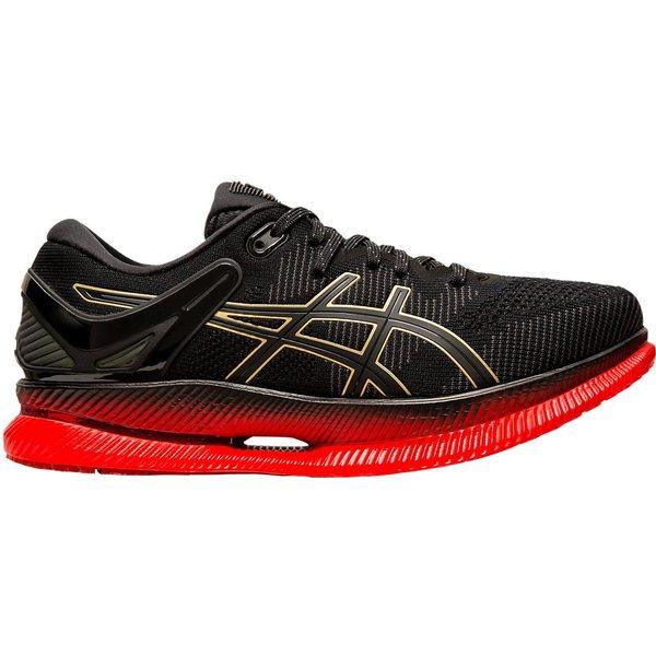 アシックス メンズ ランニング スポーツ ASICS Men's METARIDE Running Shoes Black/Red