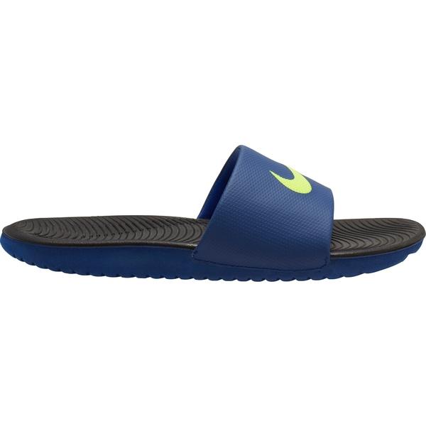 ナイキ メンズ サンダル シューズ Nike Men's Kawa Slides Black/Blue