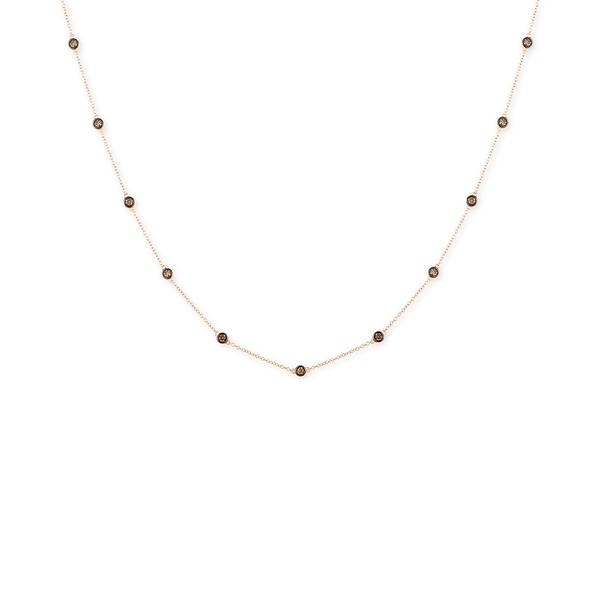 ルヴァン レディース ネックレス・チョーカー・ペンダントトップ アクセサリー Chocolatier® Chocolate Diamond Bezel Adjustable Statement Necklace (3/4 ct. t.w.) in 14k Rose Gold Rose Gold be5be04f