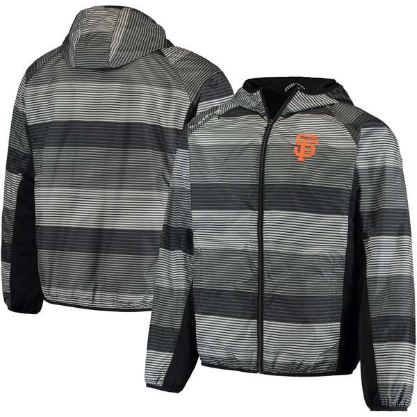 カールバンクス メンズ ジャケット&ブルゾン アウター San Francisco Giants GIII Sports by Carl Banks Linesman Hooded FullZip Jacket Black