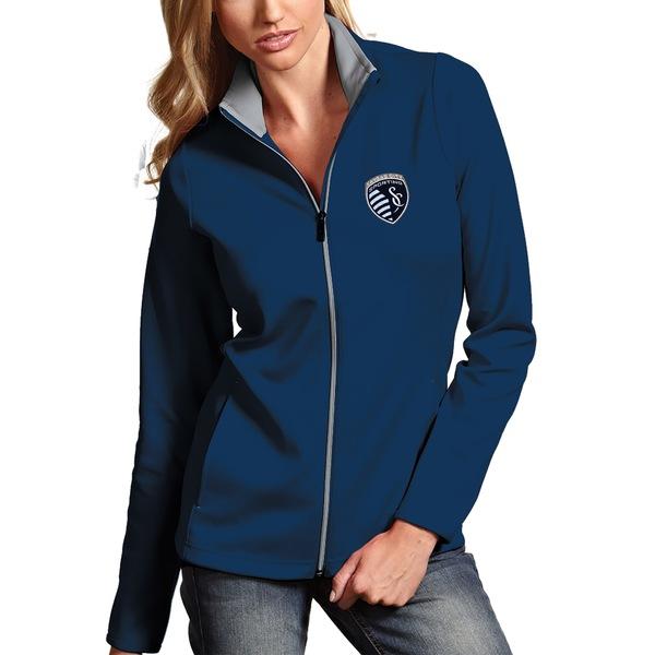 アンティグア レディース ジャケット&ブルゾン アウター Sporting Kansas City Antigua Women's Leader Full Zip Jacket Navy