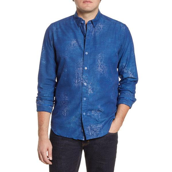 ロバートグラハム メンズ シャツ トップス Holmes Regular Fit Button-Up Shirt Blue