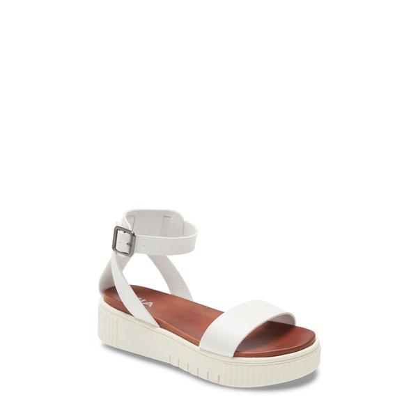 ミア レディース サンダル シューズ Lunna Platform Ankle Strap Sandal White