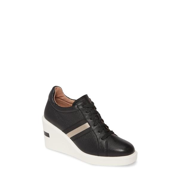 リネアパウロ レディース スニーカー シューズ Kandis Wedge Sneaker Black Nappa Leather