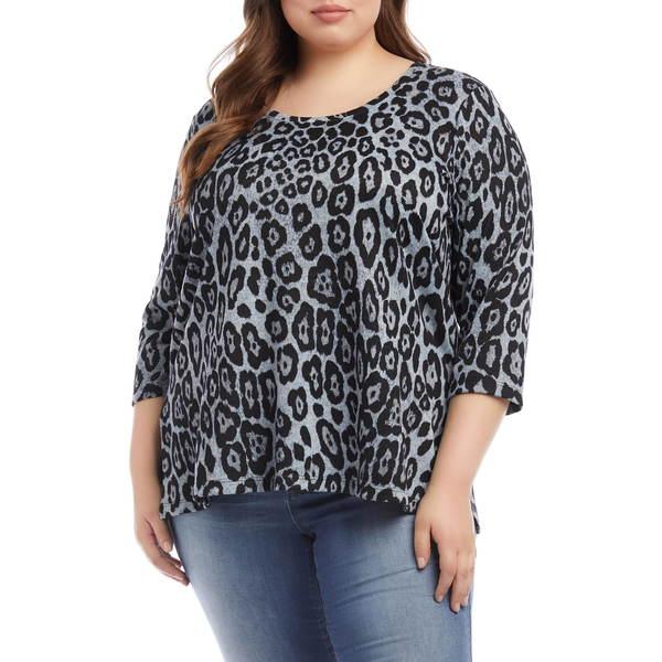 カレンケーン レディース シャツ トップス Leopard Print Shirttail Top Print