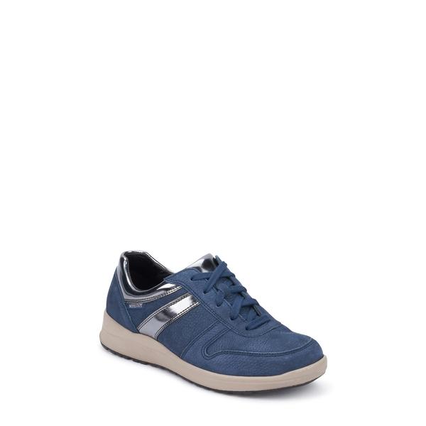 メフィスト レディース スニーカー シューズ Rebeca Sneaker Jeans Blue Leather
