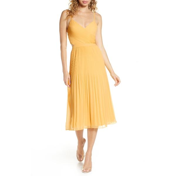 アリアンドジェイ レディース ワンピース トップス For the Gram Chiffon Midi Dress Sunshine