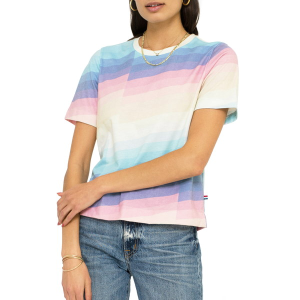 ソルエンジェルス レディース シャツ トップス Zephyr Stripe T-Shirt Zephyr