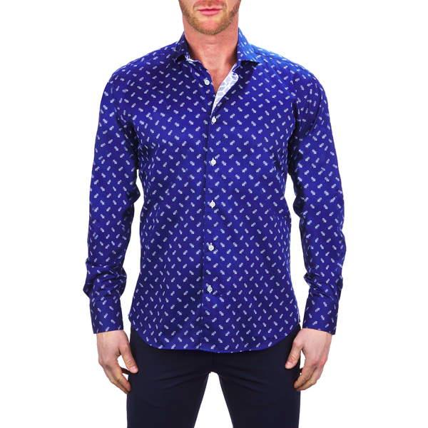 マセオ メンズ シャツ トップス Einstein Bee Blue Button-Up Shirt Blue